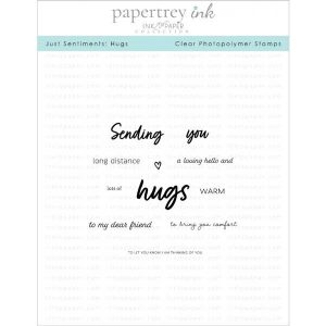 Papertrey Ink Just Sentiments: Hugs Stamp Set