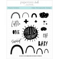 "Papertrey Ink Playful Patterns Stamp Set <span style=""color:red;"">Reserve – more on the way</span>"
