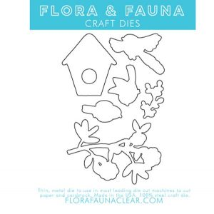 Flora & Fauna Woodgrain Bird Dies