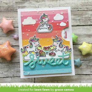 Lawn Fawn Unicorn Picnic Lawn Cuts class=