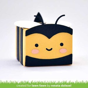 Lawn Fawn Tiny Gift Box Bee Add-On Lawn Cuts class=