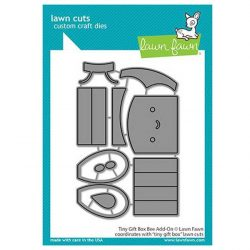 Lawn Fawn Tiny Gift Box Bee Add-On Lawn Cuts