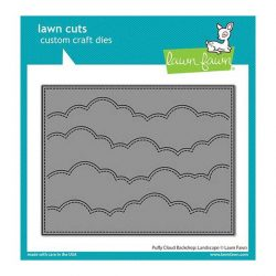 Lawn Fawn Puffy Cloud Backdrop: Landscape Lawn Cuts