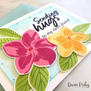 Papertrey Ink Flourishing Florals Stamp class=