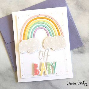 Papertrey Ink Playful Patterns: Rainbow Die class=