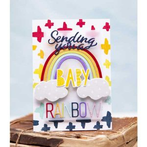 Papertrey Ink To Die For Sentiments: Rainbow Die class=