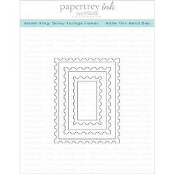 Papertrey Ink Border Bling: Skinny Postage Frames Dies