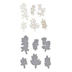 Spellbinders Organic Foliage Glimmer Hot Foil Plate & Die Set
