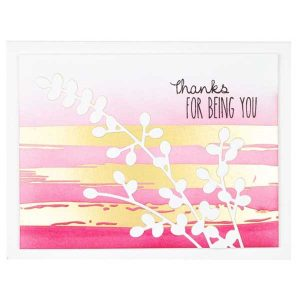 Spellbinders Foiled Brushstrokes and Stripes Glimmer Hot Foil Plate Effortless Greetings class=