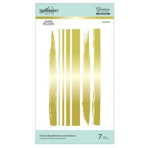 Spellbinders Foiled Brushstrokes and Stripes Glimmer Hot Foil Plate Effortless Greetings