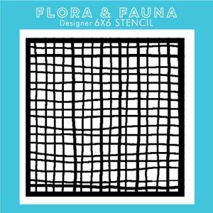 Flora & Fauna Criss Cross Stencil