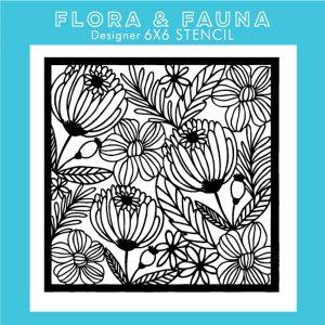 Flora & Fauna Floral Stencil