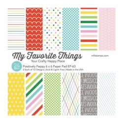 """My Favorite Things Positively Preppy Paper Pad - 6"""" x 6"""""""