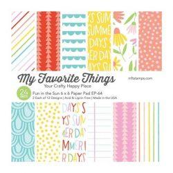 "My Favorite Things Fun in the Sun Paper Pad - 6"" x 6"""