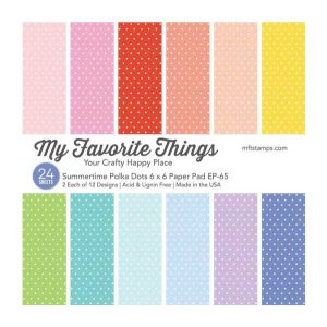 "My Favorite Things Summertime Polka Dots Paper Pad - 6"" x 6"""