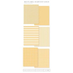 Papertrey Ink Bitty Big Paper Collection: Harvest Gold