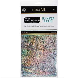 Brutus Monroe Deco Foil Transfer Sheets - Silver Sketch class=