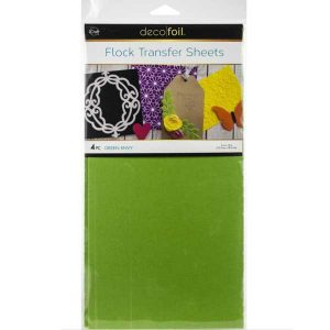 "Deco Foil Flock Transfer Sheets 6"" x 12"" - Green Envy"