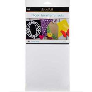 "Deco Foil Flock Transfer Sheets 6"" x 12"" - White Latte class="