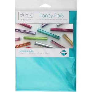 Gina K Designs Fancy Foils - Turquoise Sea class=