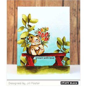 Penny Black Plant Joy Stamp class=