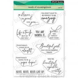 Penny Black Words Of Encouragement Stamp