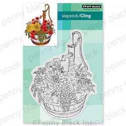 Penny Black Barrel Of Blooms Cling Stamp