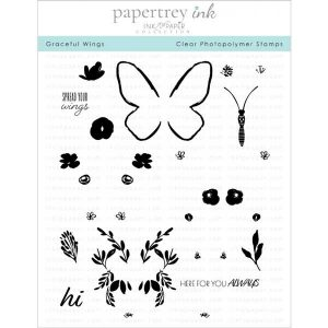 Papertrey Ink Graceful Wings Stamp Set