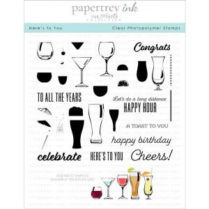 Papertrey Ink Here's To You Stamp Set