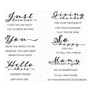 Papertrey Ink Scripted Stamp Set
