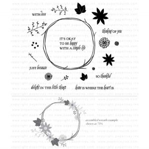 Papertrey Ink Twig Wreath Stamp Set
