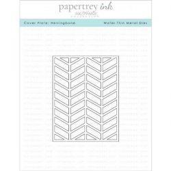 Papertrey Ink Cover Plate: Herringbone Die