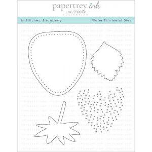Papertrey Ink In Stitches: Strawberry Dies