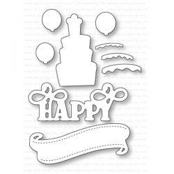 Papertrey Ink Paper Clippings: Happy Birthday Details Die