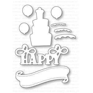 Papertrey Ink Paper Clippings: Happy Birthday Details Die