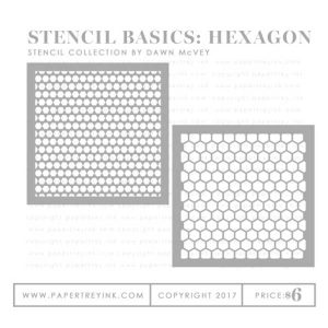 Papertrey Ink Stencil Basics: Hexagon Stencil Collection (set of 2)