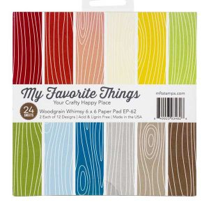 "My Favorite Things Woodgrain Whimsy Paper Pad - 6""x 6"""