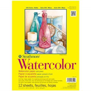Strathmore Watercolor 9″x12″ Paper Pad – Cold Press – 12 sheets
