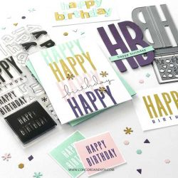 Concord & 9th All The Birthdays Stamp Set