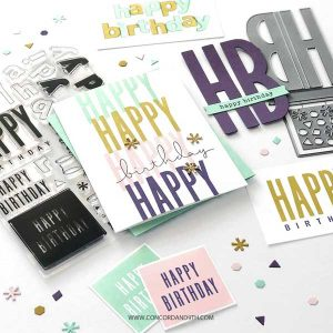 Concord & 9th All The Birthdays Stamp Set class=