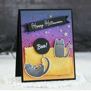 Papertrey Ink Just Sentiments: Halloween Mini Stamp Set class=