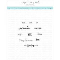 Papertrey Ink Just Sentiments: Halloween Mini Stamp Set