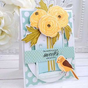 Papertrey Ink Ravishing Ranunculus Stamp Set class=
