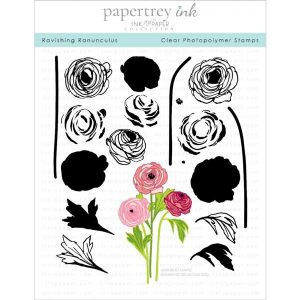 Papertrey Ink Ravishing Ranunculus Stamp Set