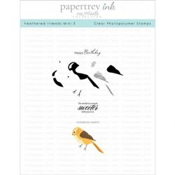 Papertrey Ink Feathered Friends Mini 3 Mini Stamp Set