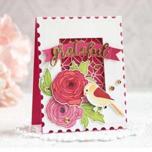 Papertrey Ink Ravishing Ranunculus Die class=