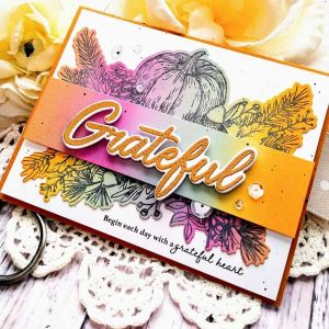 Papertrey Ink Framing Fall Sentiments Die class=