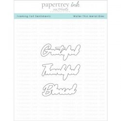 Papertrey Ink Framing Fall Sentiments Die