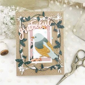 Papertrey Ink Border Bling: Grateful Vines Die class=
