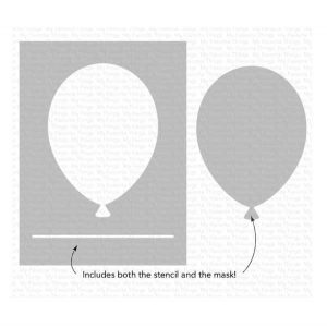 My Favorite Things Big Balloon Stencil